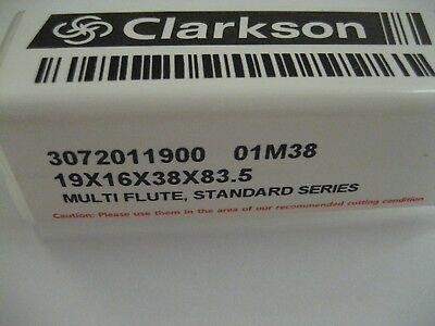 19mm HSS 4 FLUTED BOTTOM CUTTING END MILL EUROPA TOOL / CLARKSON 3072011900 #63 9