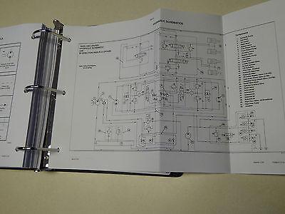 case 1845c uni-loader skid steer service manual repair shop book new  w/binder