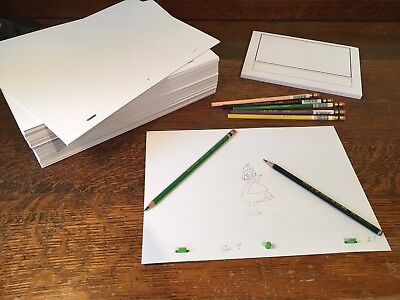 Animation Paper Bundle - 1000 punched A4 Sheets, Storyboard Pad, Pegbar, Pencils 3