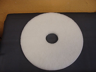 FLEXOVIT Standard 16-inch Diameter Polishing Floor Pads, White (set of 5)