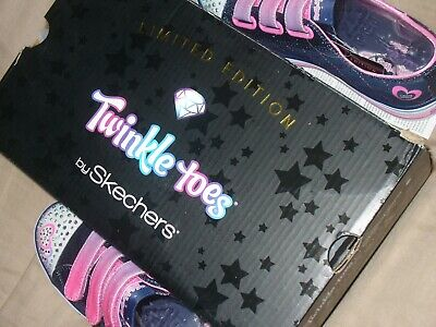 "Skechers Girl's Twinkle Toes Limited Edition Sz1.5 NWB. 10959L/DNPK 9"" IN LENGTH 11"