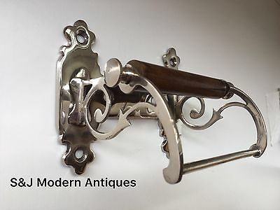 Unusual Toilet Roll Holder Chrome Novelty Vintage Victorian Silver Shabby Chic 3