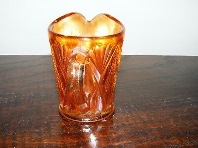 """Carnival   Marigold    Glass   Cream  Or   Milk  Jug    Height   3.1/4""""   Inches 2"""