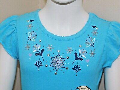 Disney Frozen Little Girls 2-Piece Elsa T shirt & Scooter Skirt Set OFFICIAL DIS 6