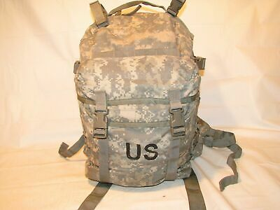 US ARMY ACU ASSAULT PACK 3 DAY MOLLE II BACKPACK w/ Stiffener VGC Made in USA 2