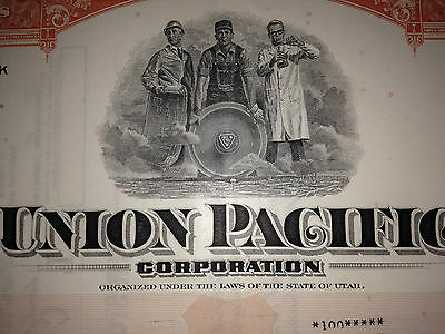 Union Pacific Railroad Corporation authentic collectible stock certificate 2