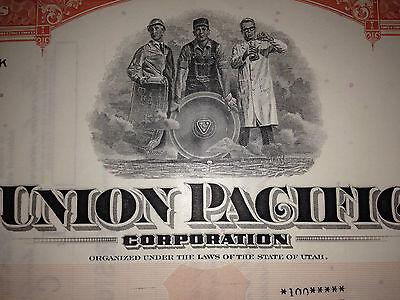 Union Pacific Railroad Corporation original historic stock certificate 2
