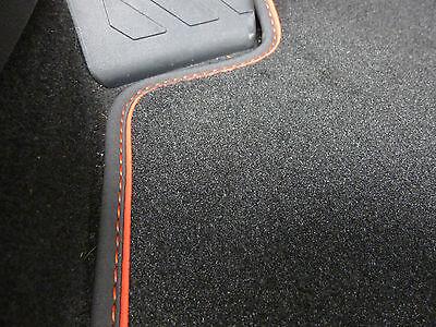 ST Nubuk WEIß NEU $$$ Original Lengenfelder Fußmatten für Seat Leon 5F FR