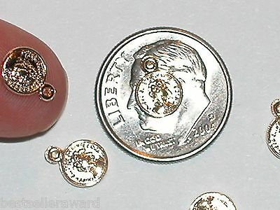 2pc miniature dollhouse tiny little golden Clams oyster Ocean flat backs 6x11mm
