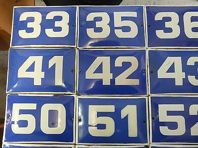 Big Choice(1 to 90) Vintage Porcelain Enamel Tin Sign Street House Numbers 8