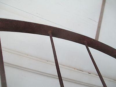 """Antique 28"""" pair IRON WHEELS industrial - steampunk SALVAGED modern design PARTS 6"""
