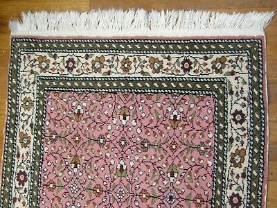 Hand Knotted Bazaar 54 Tagged Signed Turkish Kayseri Wool Runner Floor Rug Rugs & Carpets