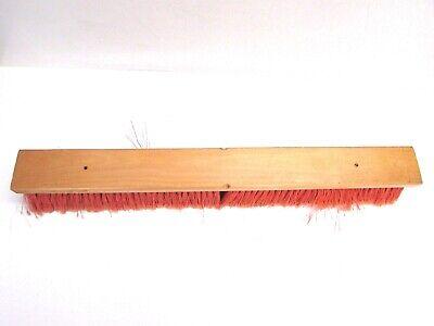 """Nos! 24"""" Floor Brush Red Flag Plastic 3"""" Bristles 2"""
