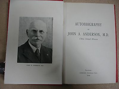 John A. Anderson Autobiography signed by John Anderson - 1948 3