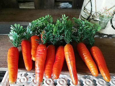 9 x Möhren Karotten 6.5cm Schneemann Nase Dekoration Ostern Gemüse Kunstgemüse