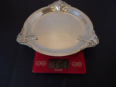 "Vtg Antique Royal Danish Int'l Sterling Silver Clover Leaf Pierced Tray 11"" 748g 8"