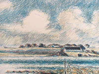 Ernst Syberg 1906-1981 Windiger Tag An Der Küste - Lithografie 1970 7