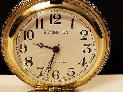 79275068e ... Vintage Remington Quartzarama Wind Up Pocket Watch Hong Kong 1 3/4