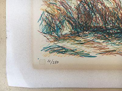 Ernst Syberg 1906-1981 Windiger Tag An Der Küste - Lithografie 1970 4