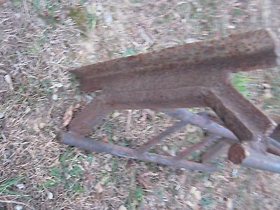 Vintage Primitive Rustic Rusty Handmade Welded Fireplace great for decor 10