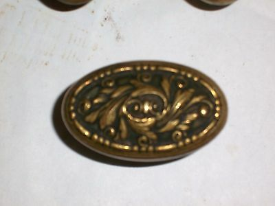 Antique European Renaissance Style Brass Knobs