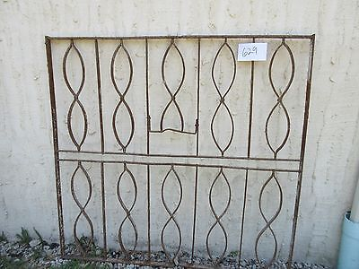 Antique Victorian Iron Gate Window Garden Fence Architectural Salvage Door #629 3