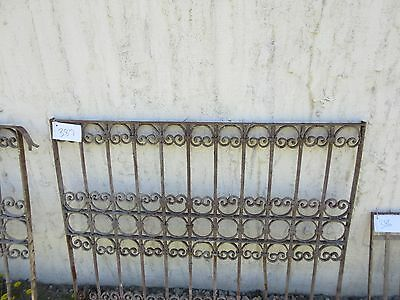 Antique Victorian Iron Gate Window Garden Fence Architectural Salvage Door #387 2