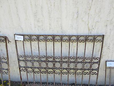 Antique Victorian Iron Gate Window Garden Fence Architectural Salvage Door #387 2