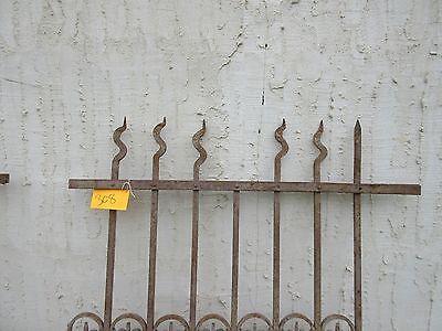 Antique Victorian Iron Gate Window Garden Fence Architectural Salvage Door #308 2
