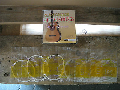 █░ 1 Satz Nylon-Gitarrensaiten Konzertgitarre-Sc10-Stärke 028-043 +3 Piks Gratis