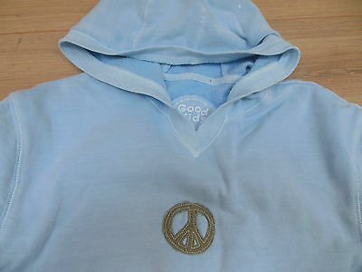 Girl Good Kids cool hoodie size 12 y hoody peace blue NEW 2