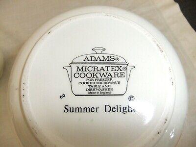 C4 Pottery Johnson Bros/Adams - Summer Delight - microwave/dishwasher safe 4E4B 4