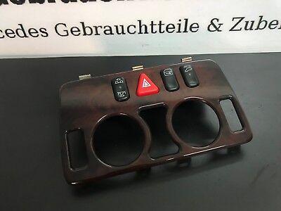 Mercedes Benz CLK W208 Bedienelementl Abdeckung Elegance Wurzelholz Blende