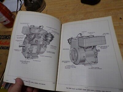 wisconsin air cooled engine instructions parts book model s-8d 3
