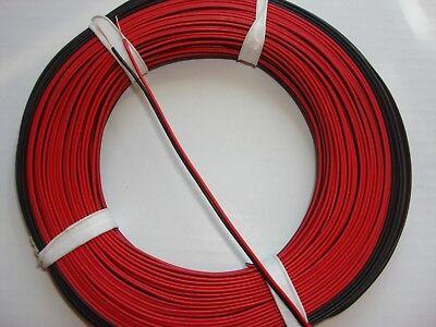 5m//50m Kabel Litze Zwillingslitze 2x0,14mm² Doppellitze Schaltlitze zweifarbig