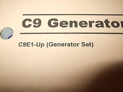 CAT CATERPILLAR C9 Generator Set Operation Maintenance Manual S N C9E1 Up