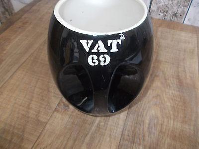 alter Keramik VAT 69 Whisky Krug,Formschöner Whisky Krug,Belgischer Vat 69 Krug 4