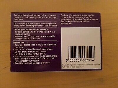 Nexium Control 20 mg gastroresistant 7 tablets x 4 packs 3