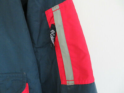 Columbia SportsWear Company Kangaroo Pouch Adjustable Red Blue Jacket Size Small