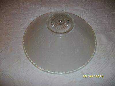 vintage ceiling light fixture glass shade 3 hole mount drape pattern 2