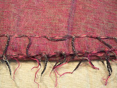 Hand woven yak wool shawl acrylic mixed / fular lana de yak con acrílico 3