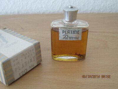 """Volles altes Sammlerflakon Parfüm """"PLATINE"""" von Dana mit Originalschacht"""