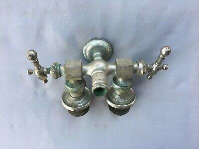 Antique Nickel Brass Claw Foot Bathtub Faucet Old Vtg Haydenville Co. 235-19J 5