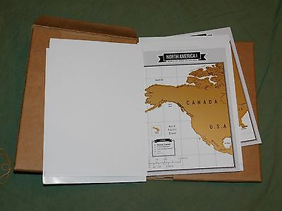 Luckies of London Travelogue Interactive Scratch Off Maps Travel Journal 2