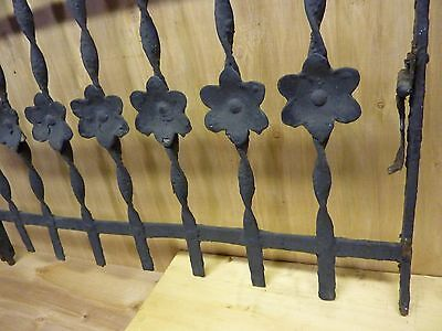 Antique Cast Iron Curly Top Floral Fence Window Gate Old Architectural Hardware 5