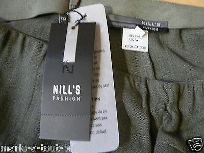 NEUVE ÉTIQUETTE valeur 280€ 42 Jupe kaki lin coton M+F GIRBAUD saritabli T 32