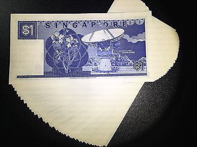 Singapore $1, $2, $2, $5 boat series banknote set in UNC excellent condition