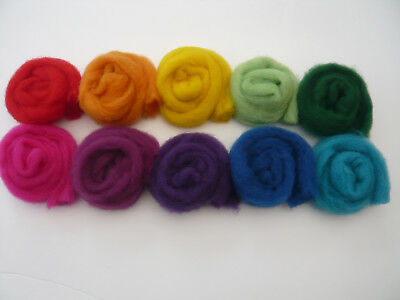 Heidifeathers® ' Rainbow Cloud Mix' - Carded Sliver (100g / 3.50) Felting Wool 2