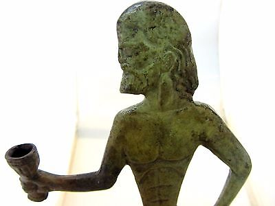Ancient Greek Bronze Museum Statue Replica of Asclepius God Of Medicine (1105)