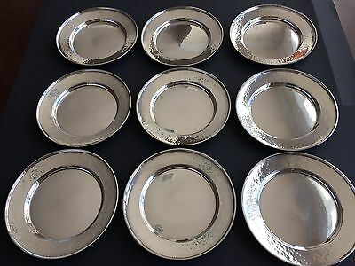 Set of 9 G. H. French & Co. Sterling Silver Bread Plates (1920s), No Monogram 5